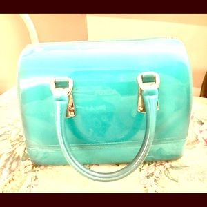 💯Authentic Teal Cute Fun Furla Candy Jelly Bag
